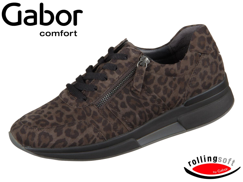 Gabor Rolling Soft 36.928 60 anthrazit Leopard Mini