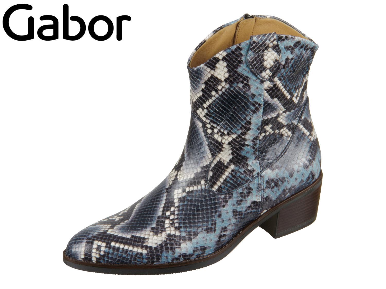 Gabor | Fashion | Stiefelette blau | blue snake | Müller das Schuhhaus