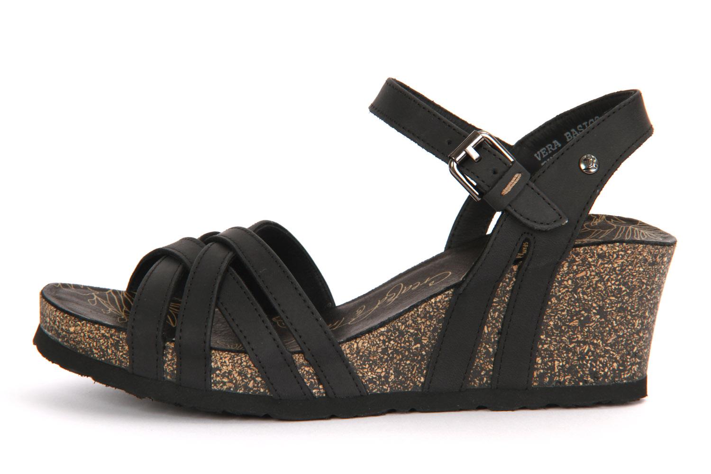 Vera Basics B1 Sandalen mit Keilabsatz, schwarz, Größe: 40