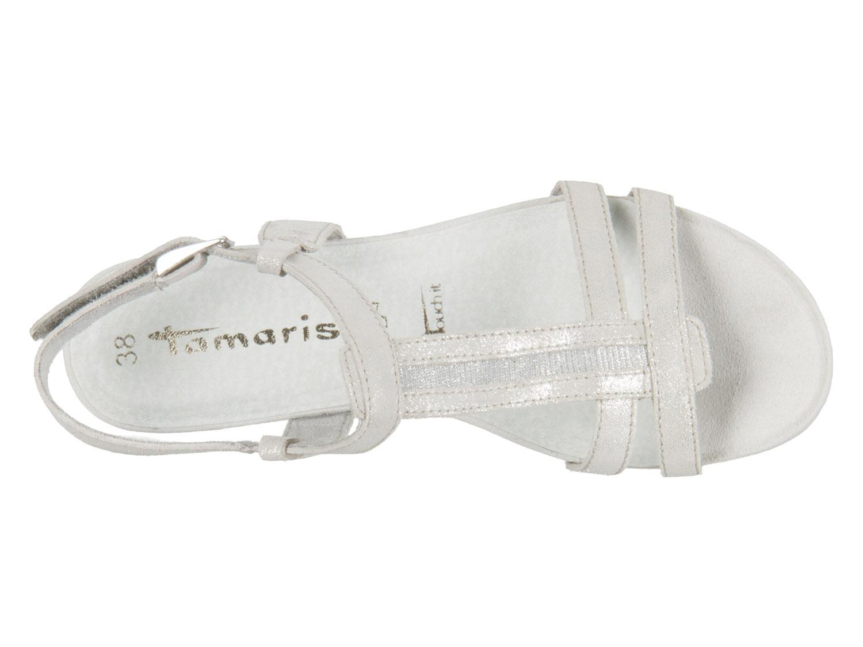 Tamaris 1-28209-20-243 cloud metallic Mix Leder Textil Neueste Sast Günstiger Preis Komfortable Online-Verkauf 100% Authentisch Günstiger Preis ubcs1